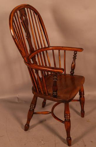 Good High Back Windsor Chair c.1840 (1 of 11)