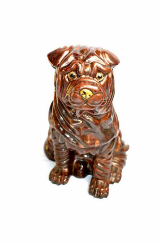 Large Early 20th Century Pottery Shih Tzu (1 of 7)