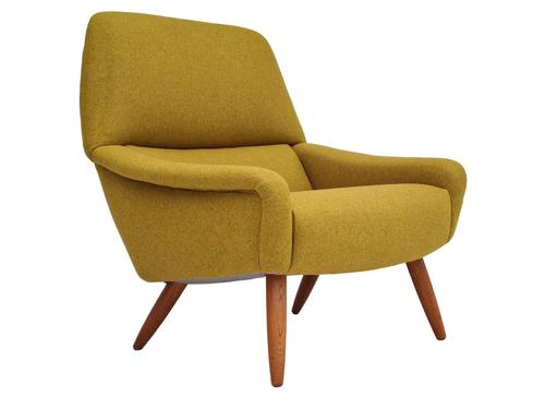 Danish relax armchair, 70s, completely renovated-reupholstered (1 of 14)
