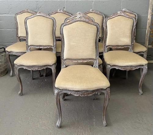 Lovely Set 8 French Dining Chairs (1 of 9)