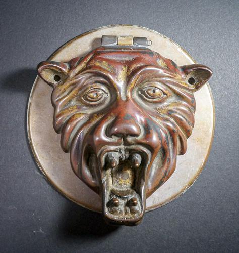 Expressive 17th Century Bronze Doorplate (1 of 4)