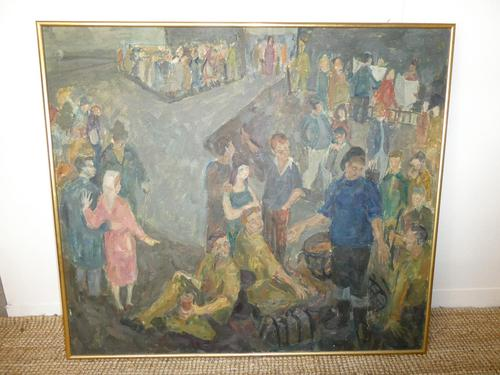 Scottish 1940s Wartime Oil Painting (1 of 7)