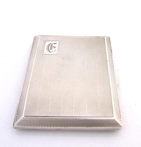 Top quality ladies' silver cigarette case John Henry Wynn Birmingham 1928 (1 of 7)