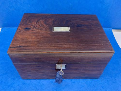 Victorian Rosewood Jewellery Box with Side Drawer (1 of 12)
