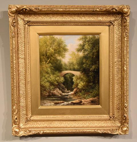 """Oil Painting by  William Ward Gill """"A North Wales Bridge"""" (1 of 5)"""