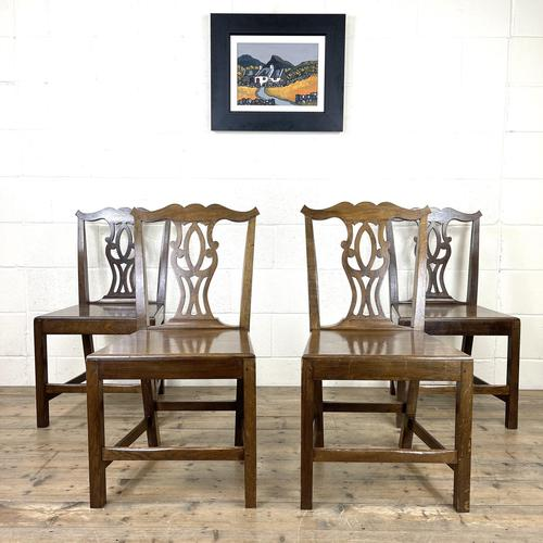 Set of Four Country Oak Dining Chairs (1 of 10)