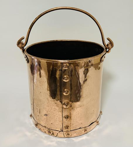 Antique Riveted Copper Bucket (1 of 14)