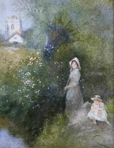 Thomas Mackay Watercolour 'The Time of Roses' (1 of 3)