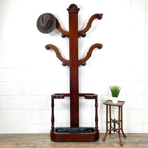 Victorian Mahogany Tree Shaped Hall Stand with Four Arms (1 of 10)