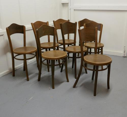 Harlequin Set of 8 French Bistro or Cafe Bentwood Chairs (1 of 7)