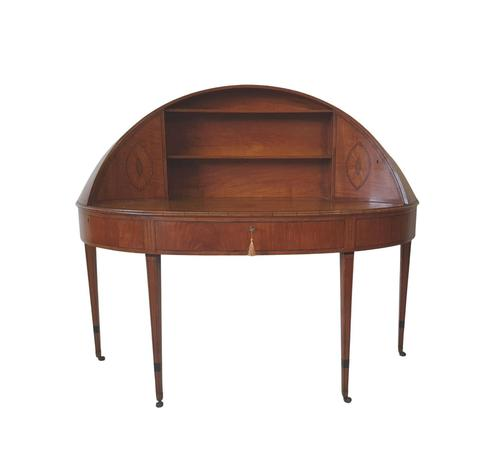 Rare 19th Century Inlaid Satinwood Sheraton Design Carlton House Desk (1 of 7)