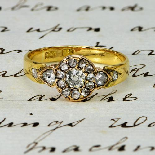 The Antique Victorian Old European & Rose Cut Diamond Ring (1 of 4)