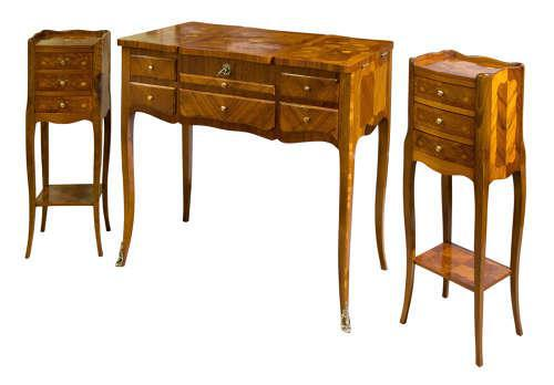 Suite of French Walnut & Floral Marquetry (1 of 15)