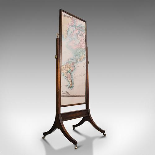 Antique Dressing Mirror, English, Oak, Glass, Bedroom, Cheval, Edwardian c.1910 (1 of 10)
