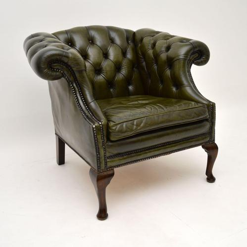 Antique Georgian Style Leather Armchair (1 of 10)