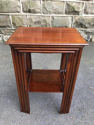Edwardian  Inlaid Mahogany Nest 4 Tables (1 of 12)