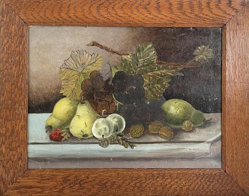 Edwardian Oil of Still Life (1 of 3)