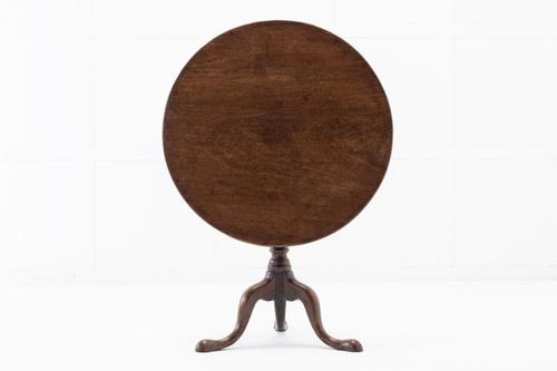 18th Century English Mahogany Tilt Top Tripod Table (1 of 4)