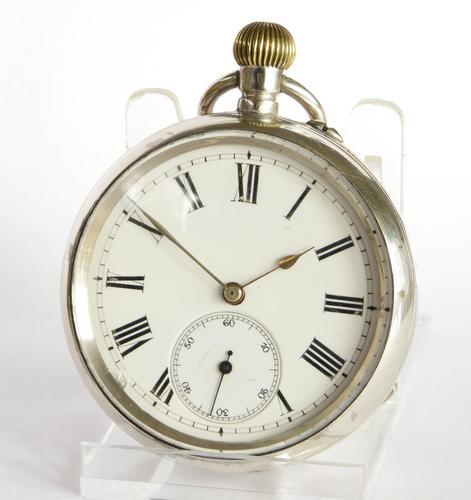 Antique Silver Phoenix Indestructible Pocket Watch (1 of 5)
