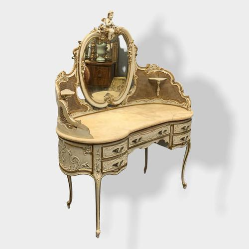 Italian Paint and Cane Dressing Table (1 of 8)