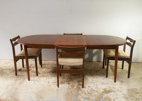 1960's Mid Century Danish Extending Dining Table with 4 dining chairs (1 of 7)