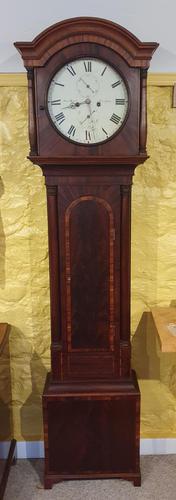 8  Day Scottish Mahogany Longcase Clock (1 of 7)