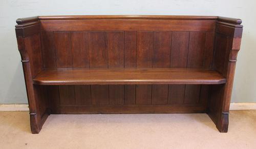 Antique Oak Hall Bench Pew Settle (1 of 12)