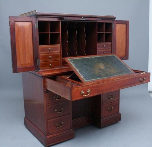 Superb Quality 19th Century Mahogany Secretaire Desk Cabinet (1 of 12)