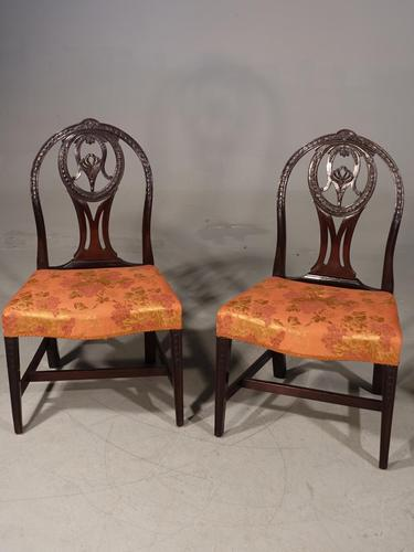 Good Late 18th Century Pair of Mahogany Hooped Back Single Chairs (1 of 5)
