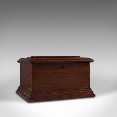 Small Antique Document Box, English, Walnut, Desk, Pen, Sarcophagus, Victorian (1 of 10)