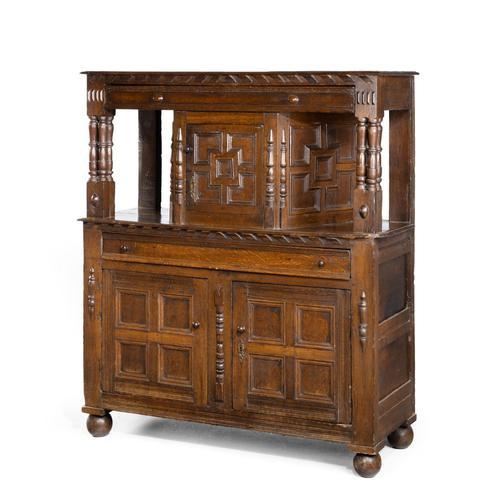 Good Late 17th Century Oak Court Cupboard (1 of 6)