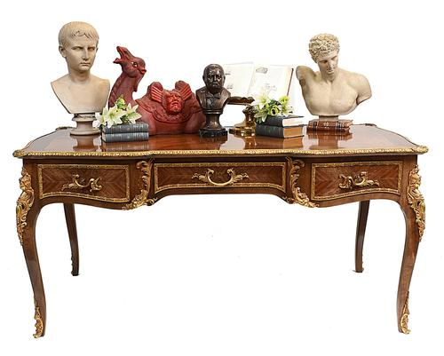 French Bureau Plat Antique Desk Writing Table Empire (1 of 13)