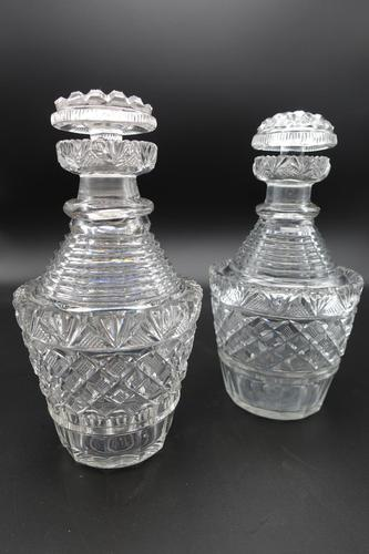 Good Pair of Regency Period Cut Glass Decanters (1 of 4)