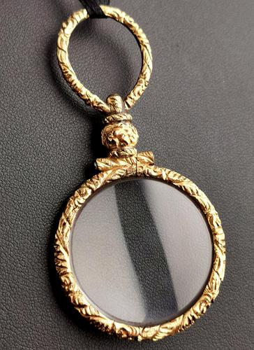 Antique Georgian Gold Quizzing Glass, Pendant, 9ct (1 of 10)