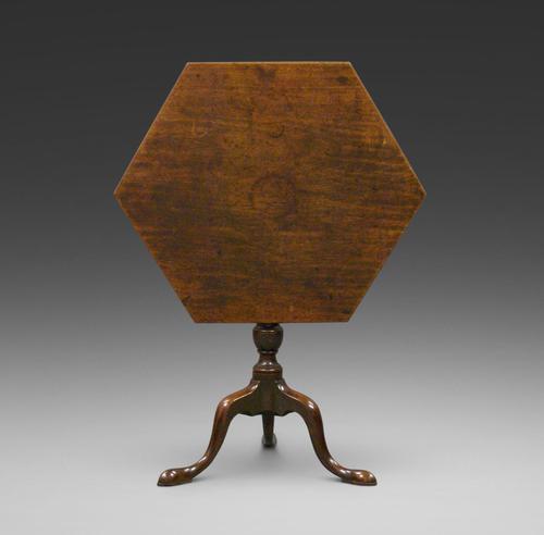 Unusual Georgian Hexagonal Tripod Table (1 of 5)