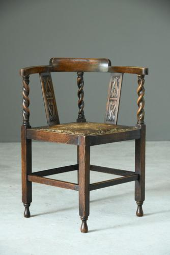 Early 20th Century Corner Chair (1 of 9)