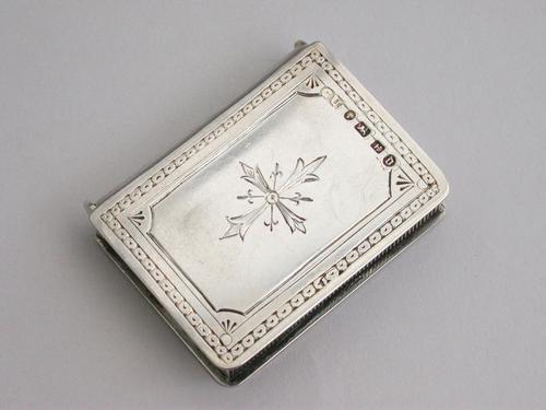 Victorian Novelty Silver Book Form Vesta Case, By George Unite, Birmingham, 1888 (1 of 11)