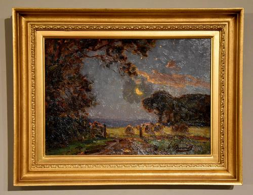 """Oil Painting by William F. Burchell """"Evening in the Fields"""" (1 of 4)"""