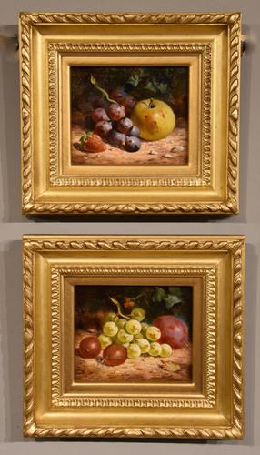 """Oil Painting Pair by William Hughes """"White Grapes"""" & """"Black Grapes"""" (1 of 5)"""