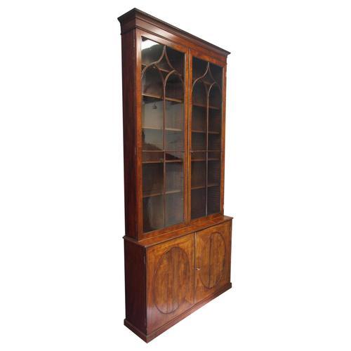 Tall George III Mahogany Cabinet Bookcase (1 of 13)