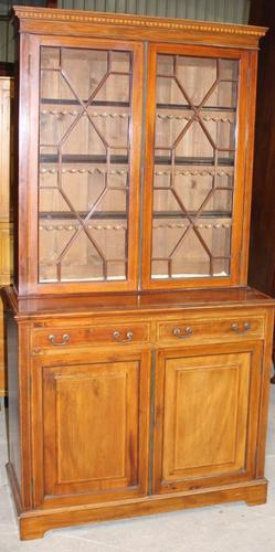 1910s Edwardian Quality Mahogany Chiffoniere Bookcase with Inlay (1 of 5)