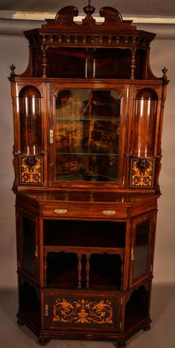 Rosewood Corner Display Cabinet by Gillows (1 of 14)