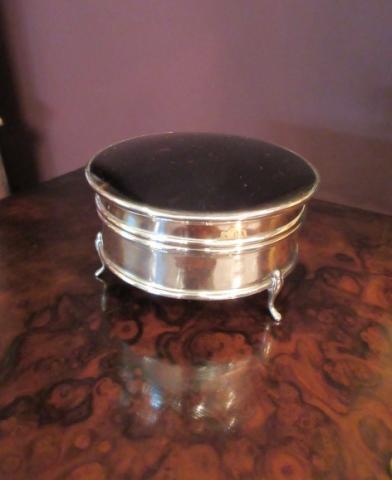 George V Silver & Tortoiseshell Ring Box (1 of 5)