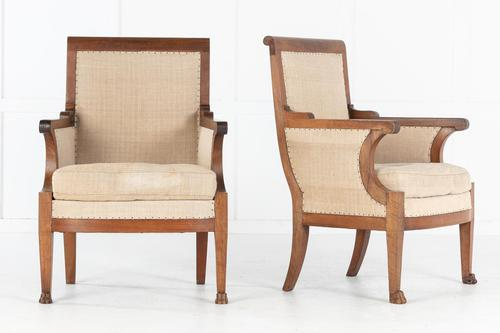Pair of 19th Century French Walnut Armchairs (1 of 9)