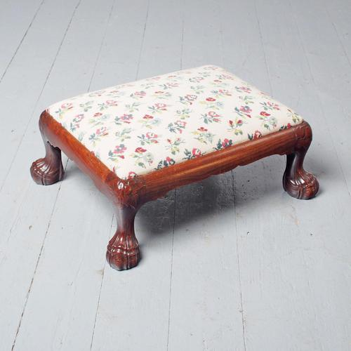 Carved Mahogany Footstool by Whytock & Reid (1 of 5)