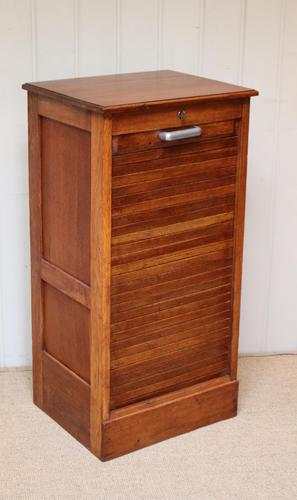 Small Proportioned French Oak Filing Cabinet (1 of 9)