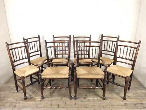 Set of Eight Spindle Back Chairs (1 of 10)