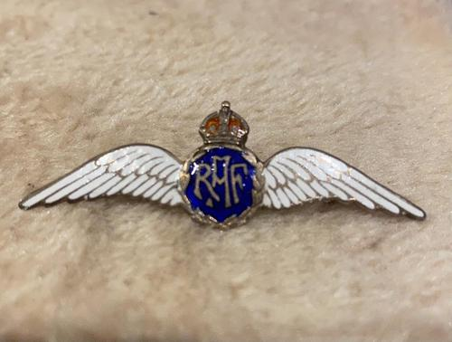 Silver & Enamel RAF Brooch (1 of 3)