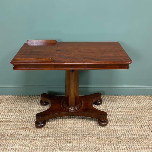 Quality Victorian Mahogany Double Sided, Reading / Music Table (1 of 8)