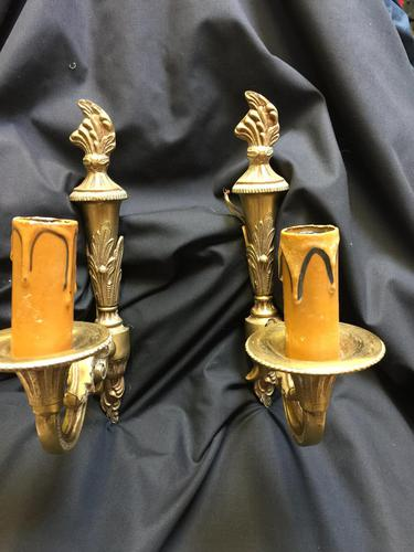 Pair of French Single Light Decorative Wall-lights (1 of 4)